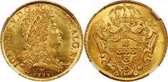Brazil/Portuguese Rulers AV 12800 Reis 1733-M Minas Gerais Mint Joao V