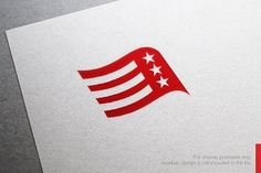 Flag Logo Templates **Awesome Logo Design Template** you can use this logo for any business.This design has **EXTENDED by nospacestore Business Illustration, Pencil Illustration, Creative Sketches, Creative Logo, Best Logo Design, Branding Design, Graphic Design, Superhero Logo Templates, Political Logos
