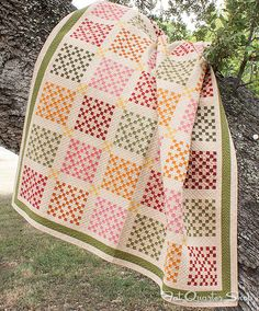 Penny Candy Quilt - I love what you can do with a nine-patch!