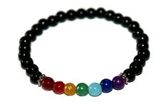 Excited to share the latest addition to my #etsy shop: Chakra Bracelet http://etsy.me/2nFV7ht #jewelry #bracelet #black #rainbow #chakrabracelet #simplebracelet #everydayjewelry #chakrajewelry #yogabracelet #chakra #meditation #yogabracelet #yoga #chakrajewelry #gifts