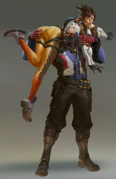 ArtStation - OverWatch-Fanart Soldier76 and Tracer, Justcg Chen