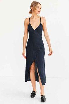 SIR The Label Gigi Midi Wrap Dress - Urban Outfitters