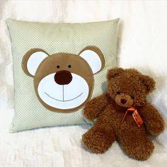 Handmade bear decorativ pillow
