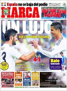 Los Titulares y Portadas de Noticias Destacadas Españolas del 23 de Septiembre de 2013 del Diario Deportivo MARCA ¿Que le pareció esta Portada de este Diario Español?