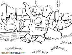 coloring pages of skylanders | how to draw bash, skylanders, stepstep, video game characters
