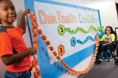 Participating in All for Books? Have students add a link to their grade's DNA chain for every donation they make. Hang them up to show them off and encourage friendly competition!    Check out your Book Fair Chairperson Toolkit for more tips and tricks.