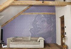 Wall&Deco Tapete als Blickfang für eine Wand (von VerWANDlung Malerwerkstätten)