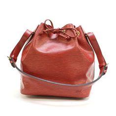 Louis Vuitton Petit Noe Epi Shoulder bags Red Leather M44107
