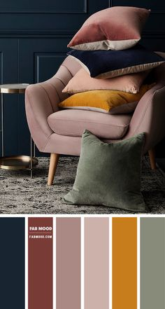 Orange Color Schemes, Orange Color Palettes, Color Schemes Colour Palettes, Green Colour Palette, Room Color Schemes, Room Colors, House Colors, Decorating Color Schemes, Autumn Color Palette