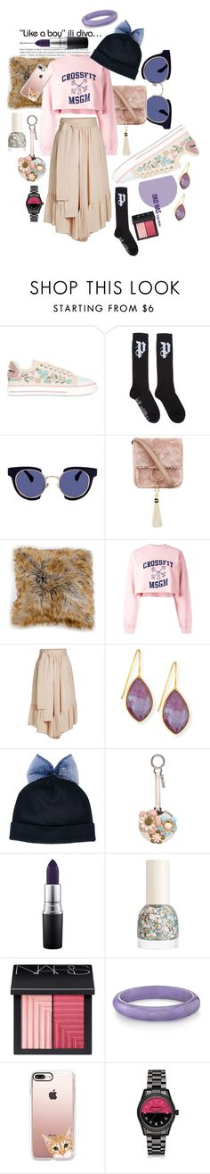 """""""*angl*"""" by bushra-elhadi-elsayed-bushra ❤ liked on Polyvore featuring RED Valentino, Palm Angels, Kaleos, Brother Vellies, Woven Workz, MSGM, See by Chloé, Dina Mackney, Federica Moretti and Fendi"""