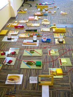 Visual map of links between math materials Montessori northwest