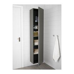 GODMORGON Hochschrank - Hochglanz grau - IKEA