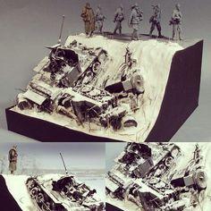 "Beautiful!!! ""Stalingrad Shadows"" 1/35 diorama. Modeler Vladimir Demchenko #scalemodel #plastimodelismo #scalemodelkit #plastickits #usinadoskits #udk #diorama #stalingrad #estalingrado #hobby #miniatura #war #miniatur"