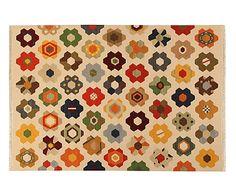 Tappeto Kilim indiano in lana Star - 60x90 cm