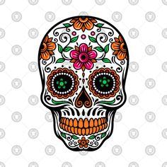 sugar skull illustration - Google Search