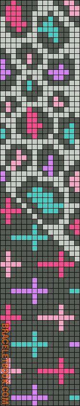 8 beaded loom Rotated Alpha Pattern added by christalxo Seed Bead Patterns, Peyote Patterns, Beading Patterns, Stitch Patterns, Bead Loom Bracelets, Beaded Bracelet Patterns, Friendship Bracelet Patterns, Beaded Hat Bands, Mochila Crochet