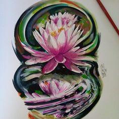 LotusFlower WatercolorDesign