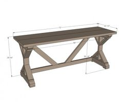 I want to make this!  DIY Furniture Plan from Ana-White.com  Free plans to build a Fancy X Desk with just $55 in building materials!