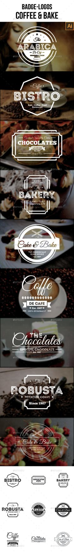 Badge-Logo Coffee and Bake Template Vector EPS, AI. Download here: http://graphicriver.net/item/badgelogo-coffee-and-bake/15394497?ref=ksioks