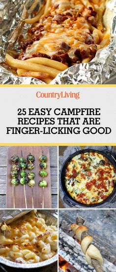 Pin these ideas! Save these easy recipes and make your next campfire one to remember.