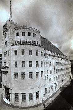 Exterior of BBC Broadcasting House in 1932 by AbouttheBBC, via Flickr