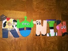 Toy Story character letters! Adorable decoration for a toy story fan!