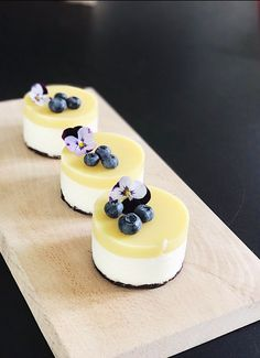 Mini lemon cheesecak