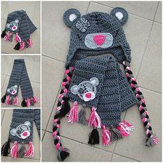 Šála k medvědí ušance... Šálka je doplňkem k medvědí ušance z akrylové příze... http://www.fler.cz/zbozi/medvedi-usanka-5606809