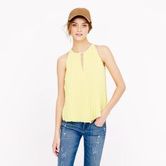 I love the Blue One Better but the halter cut and Pleats made this to my list! J.Crew - Pleated chiffon top