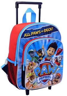 "Paw Patrol ""All Paws on Deck"" Rolling Boys Backpack Bookbag - with Pups and Ryder #GlobalDesignConceptsInc #Backpack"