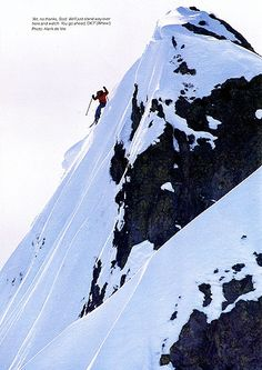 Scot Schmidt - circa 1985 on Eagle's Nest, Squaw Valley Yellowstone Club, Eagle Nest, Winter Snow, Mount Everest, Paths, Skiing, Mindfulness, Sarah Todd, Adventure
