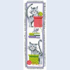 Bookmark Curious Cats - counted cross-stitch kit Vervaco