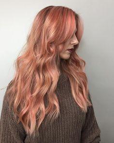 Blorange - The hair trend of 2017 Blorange Hair, Dye My Hair, Bad Hair, Peach Hair Colors, Pink Hair, Hair Color And Cut, Cool Hair Color, Cabelo Rose Gold, Hair Shrinkage