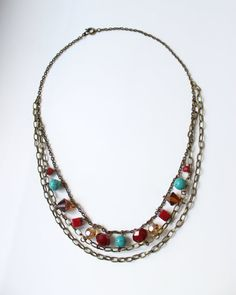 Colorful Venetian inspired necklace by almacastro on Etsy, $35.00