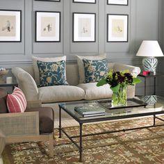 Evesham 2.5-Seater High-Back Sofa, Natural