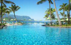 St. Regis Princeville Hotel pool in Kauai