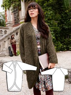 Cocoon Cardigan 11/2013 #107 http://www.burdastyle.com/pattern_store/patterns/cocoon-cardigan-112013?utm_source=burdastyle&utm_medium=blog&utm_campaign=bsawblog102113-coccooncoattxt