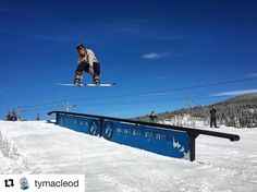 #SendingIt into the #Holiday #weekend in Winter Park #Colorado!  #playwinterpark #winterparklife #winterparkresort #instagood #weekendvibes #snowboarding #instawinter #terrainpark #coloradolive  #Repost @tymacleod with @repostapp  @shredmidwest with a good ol' stale to rail on opening day. #winterparkresort