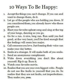 10 ways to be happy.