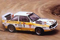 Michèle Mouton, 1985 Pikes Peak, Group B Audi Sport quattro. Overall winner. Sport Quattro, Audi Quattro, Audi Sport, Le Mans, Audi Gt, Audi Cars, Hill Climb Racing, Road Racing, Rally Raid