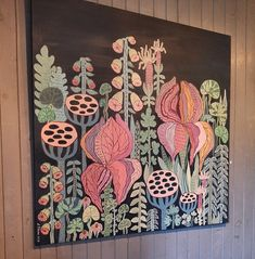 Acrylic painting, Anna Strøm, Original painting, painting, magic garden, magick hage, forest, blomster,flowers picture, flowers painting, modern interior, wall decor, modern wall decor, grey wall,black picture, contemporary art,art,kunst, canvas,acrylic, large painting, contemporary desig Modern Wall Decor, Modern Art, Black Picture, Decorating With Pictures, Large Painting, Grey Walls, Animal Paintings, Magick, Modern Interior