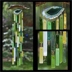 Recycled Beach Glass Inspired Wind Chimes  Ever by sarahsnature, $82.50