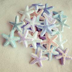 Crochet Sea Motifs, Set of 11 Crochet Fish, Beach Crochet, Crochet Dragon, Crochet Stars, Freeform Crochet, Cute Crochet, Crochet Animals, Crochet Motif, Crochet Designs