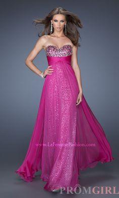 Strapless Sequin Evening Gown, La Femme Sequin Dresses- #prom #dresses #gowns