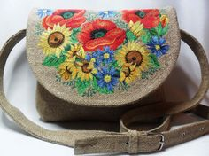 Bag with embroidery Flower Day by FediyS on Etsy, $100.00