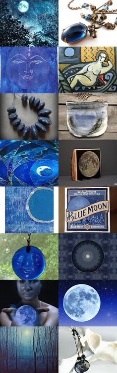 Blue Moon- glow in the night by 3buu on Etsy--Pinned with TreasuryPin.com