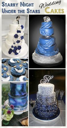 Starry Night - Under The Stars - Wedding Cake Ideas