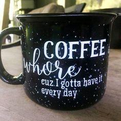 funny mug - Coffee whore coffee mug — The Cozee Shack Funny Coffee Mugs, Coffee Quotes, Coffee Humor, Funny Mugs, Coffee Drinks, Coffee Cups, Coffee Maker, Coffee Beans, Coffee Coffee