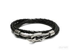 JAM HOME MADE ~ Lace 3Roll Leather Bracelet, Black