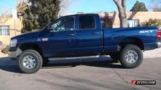 Blue color Dodge Ram Trucks